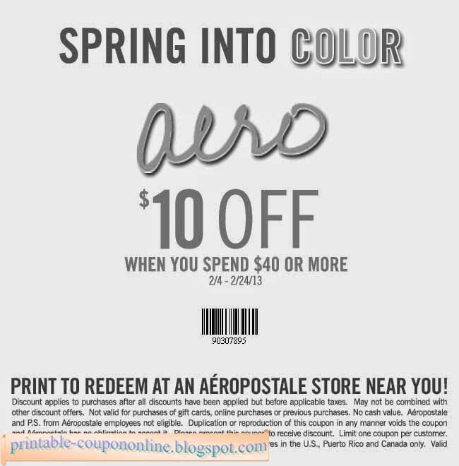 Ps aeropostale online coupons 2018