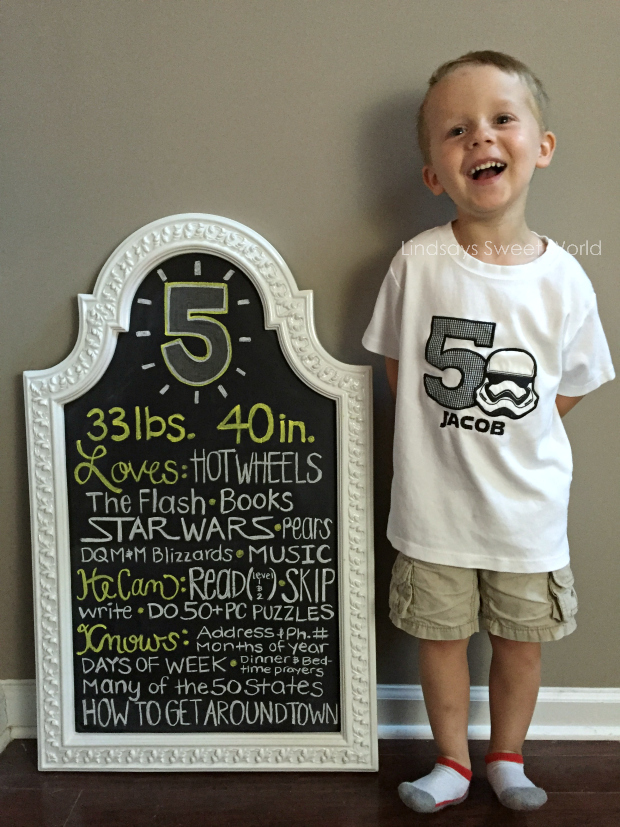Happy 5th Birthday To Our Jacob Brian