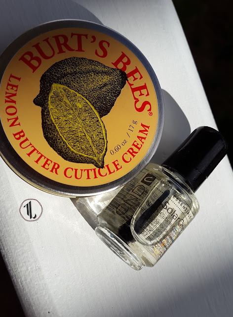 Burt's Bees Lemon Butter Cuticle Cream and CND Solar Oil www.modenmakeup.com
