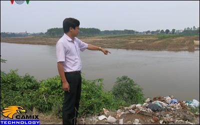 Cải tạo đạt tiêu chuẩn công trình xử lý nước thải - Nước sông Đáy thâm nâu vì ô nhiễm dệt nhuộm