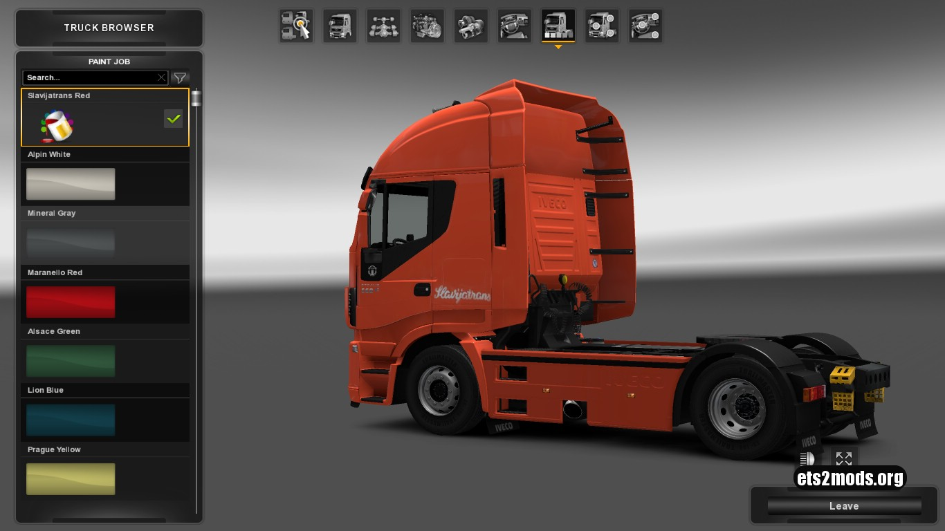 Slavijatrans Red Skin for Iveco Hi Way