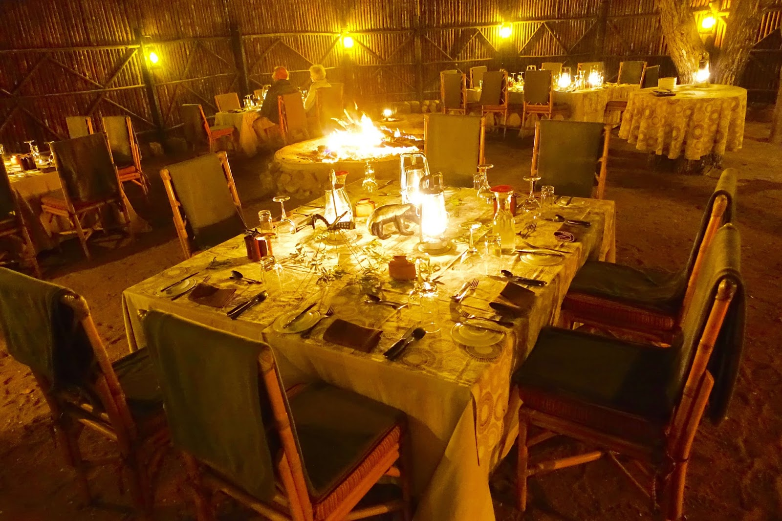 boma dinners at mostwari private game reserve