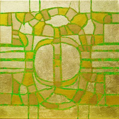 Bild No. 160612 GZ  Acryl und Blattgold auf Leinwand, 50 x 50 cm, Dagmar  Mahlstedt