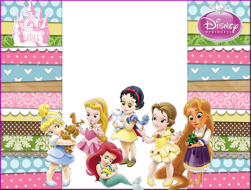 Disney Princess Babies Free Printable Party Invitations Or Cards