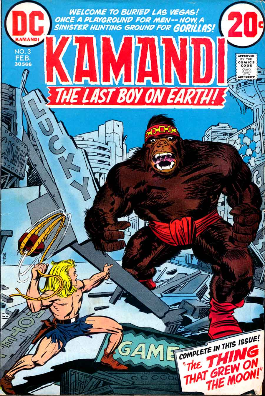 Kamandi v1 #3 dc 1970s bronze age comic book cover art by Jack Kirby