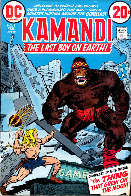 Kamandi v1 #3 dc 1970s bronze age comic book cover art by Jack Kirby