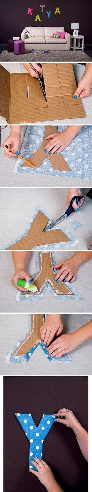 Gifts that say wow fun crafts and gift ideas 8 cool for How to cover cardboard letters with fabric