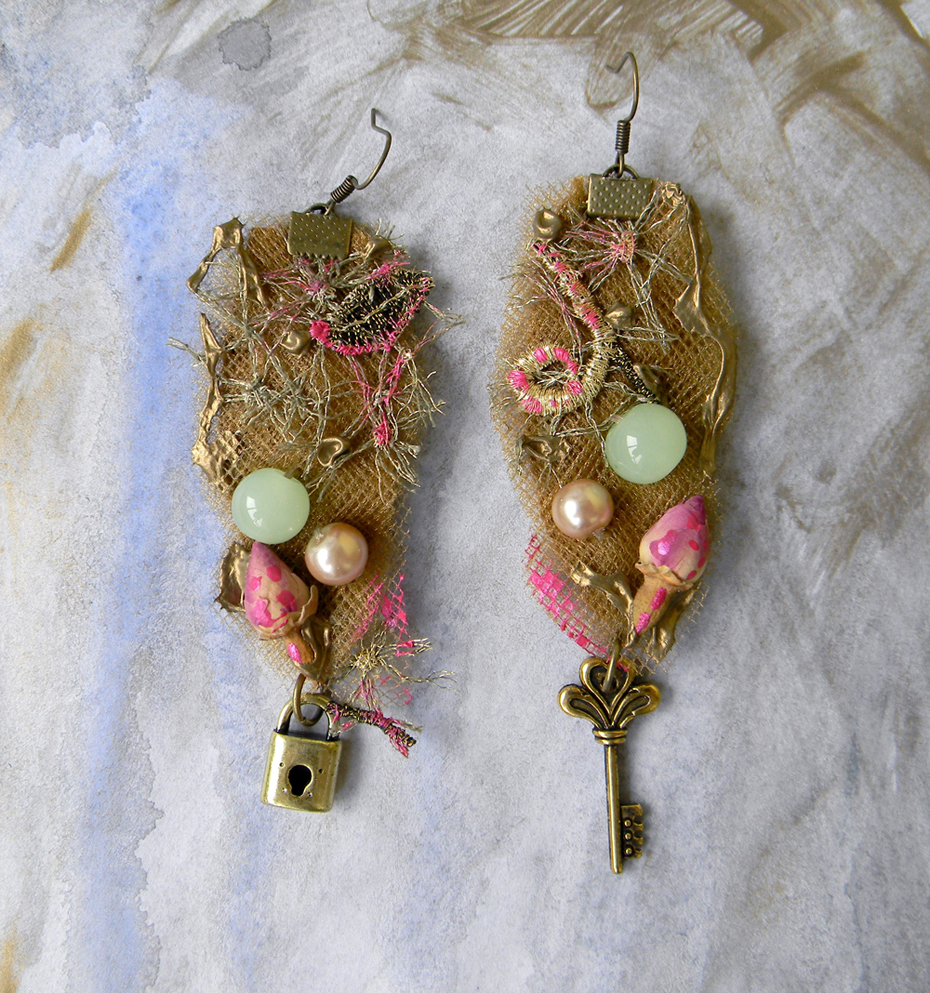 Unique Original Jewelry Earrings Handmade Fashion Handcrafted Art Jewelry