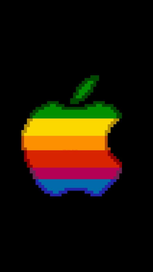 Pixel Apple - iPhone 5 Wallpaper - Pocket Walls :: HD iPhone Wallpapers