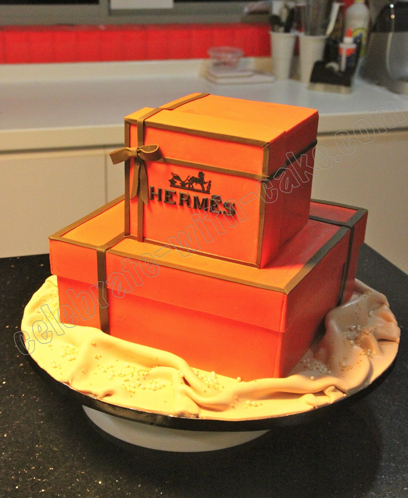 Celebrate With Cake! Hermes Box Cakes