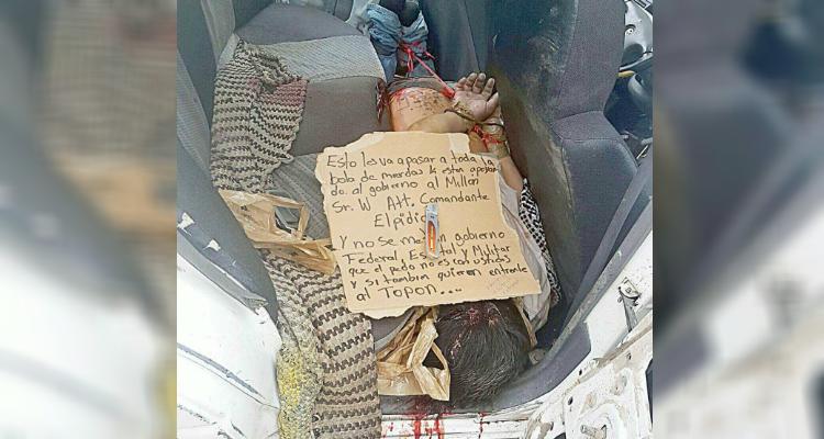 Abandonan un hombre amarrado de pies y manos en carretera Huitzuco