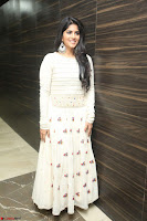 Megha Akash in beautiful White Anarkali Dress at Pre release function of Movie LIE ~ Celebrities Galleries 070.JPG