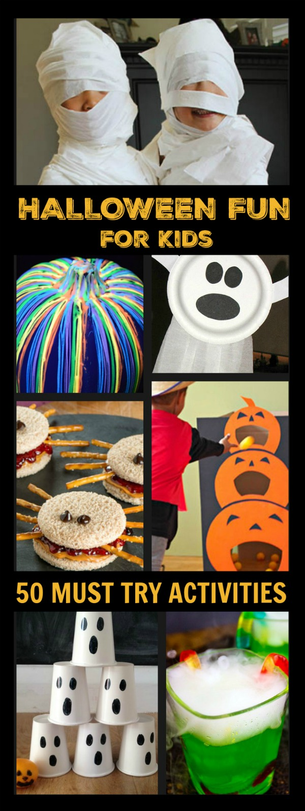 50 SUPER FUN HALLOWEEN ACTIVITIES FOR KIDS- games, crafts, recipes, and more!