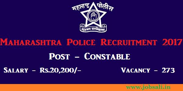 government jobs in Maharashtra 2017, Maharashtra police bharti 2017, police bharti 2017-18 Maharashtra
