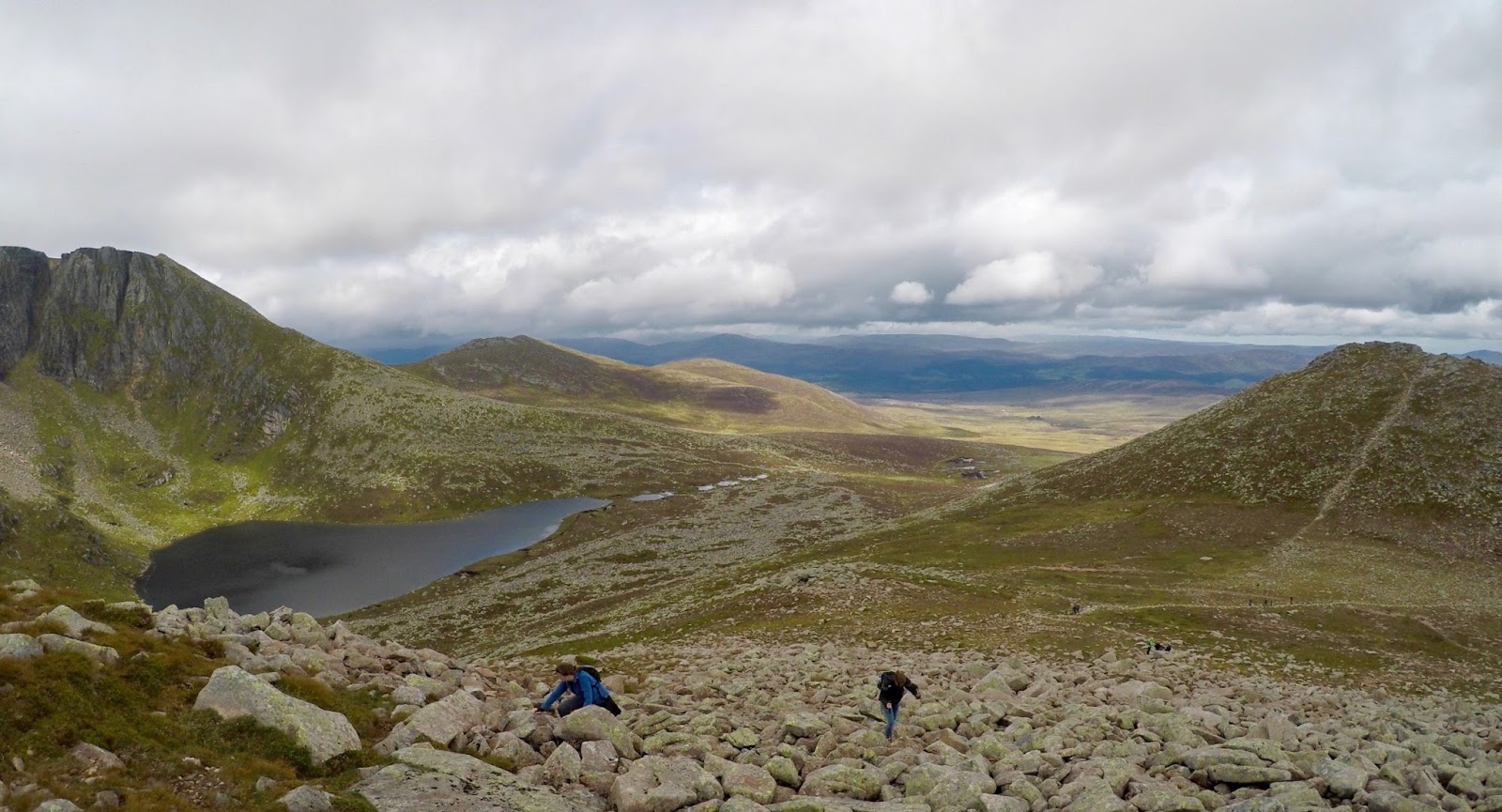 Loch at the top of Lochnagar Munro - Cal McTravel - www.calmctravels.com