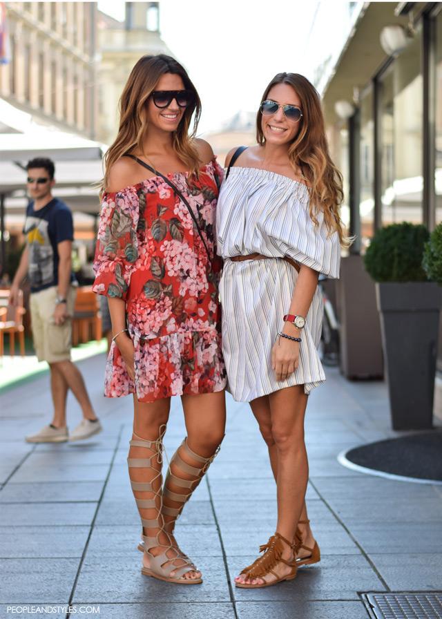 Antonia Paleka i Ivana Ćosić, Ulična moda u Zagrebu: nekoliko osunčanih stajlinga, street style fashion back to school