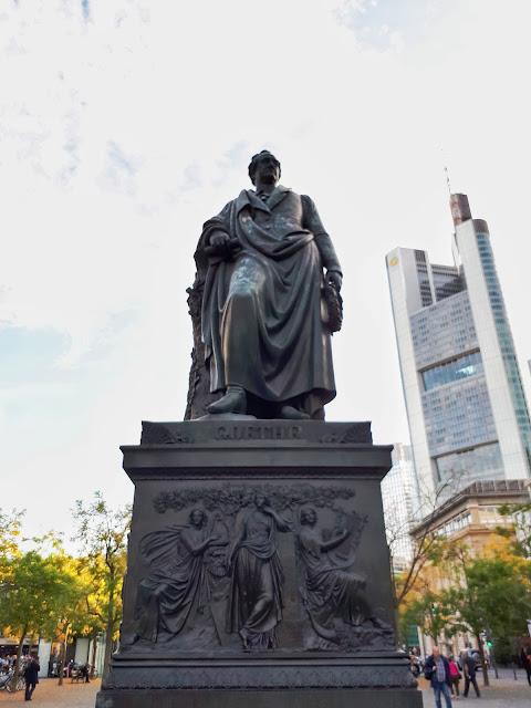 Goethe statue at Goethe Platz in Frankfurt