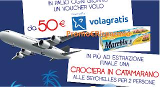 Logo Vinci 181 voucher Volagratis da 50 euro e una crociera in catamarano