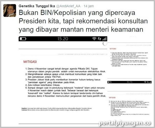 Mantan Stafsus SBY Ungkap Dokumen Rekomendasi Konsultan ke Jokowi Soal Demo 411