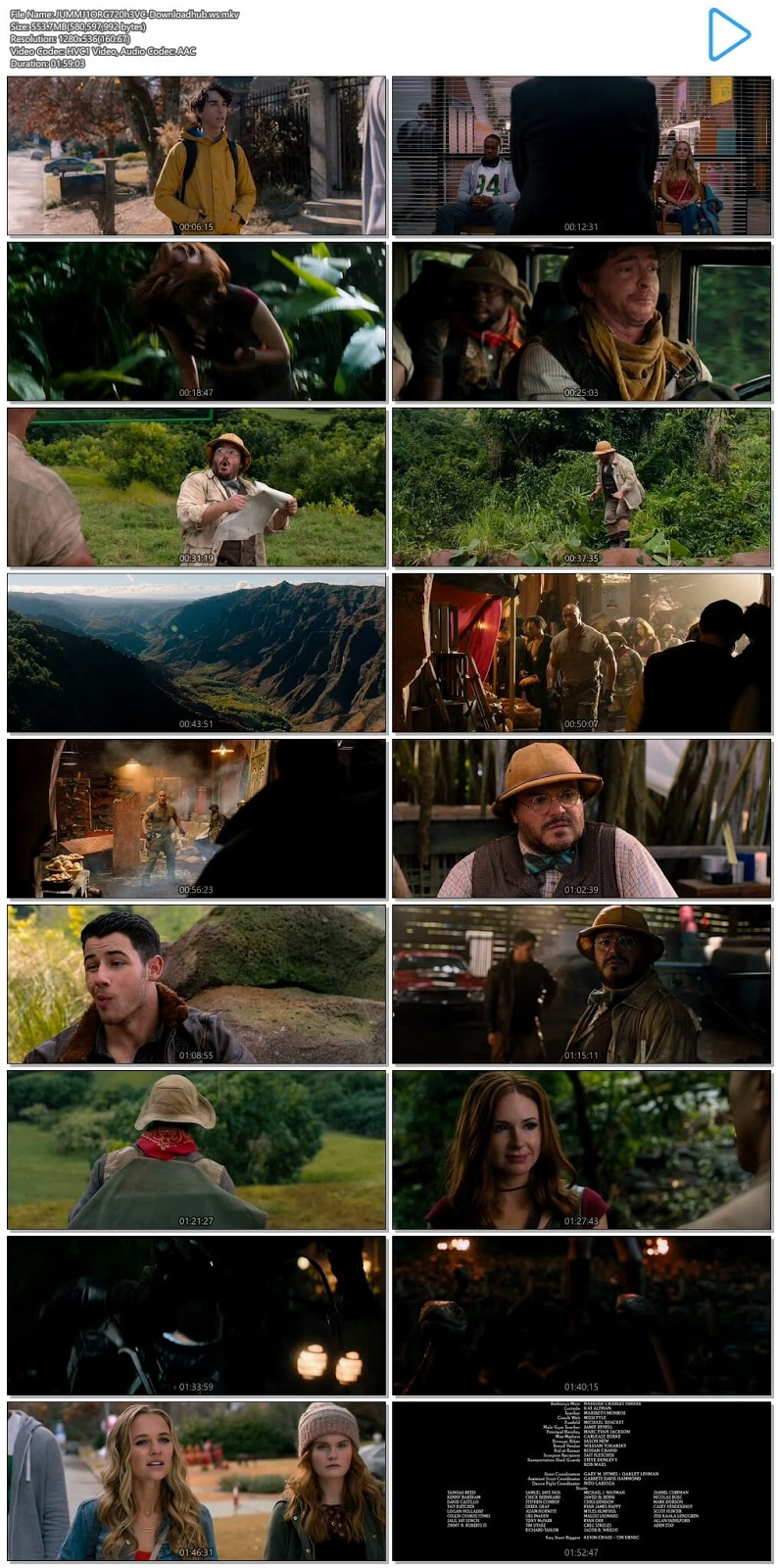 Jumanji Welcome to the Jungle 2017 Hindi Dual Audio 720p HEVC BluRay Free Download