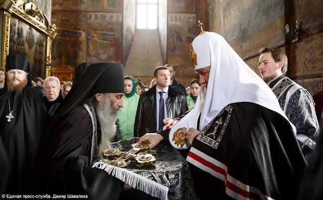 Патриарх Кирилл провёл службу в Троице-Сергиевой лавре Сергиев Посад