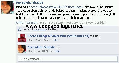 Testimoni Cocoa Collagen Power Plus (CCPP)
