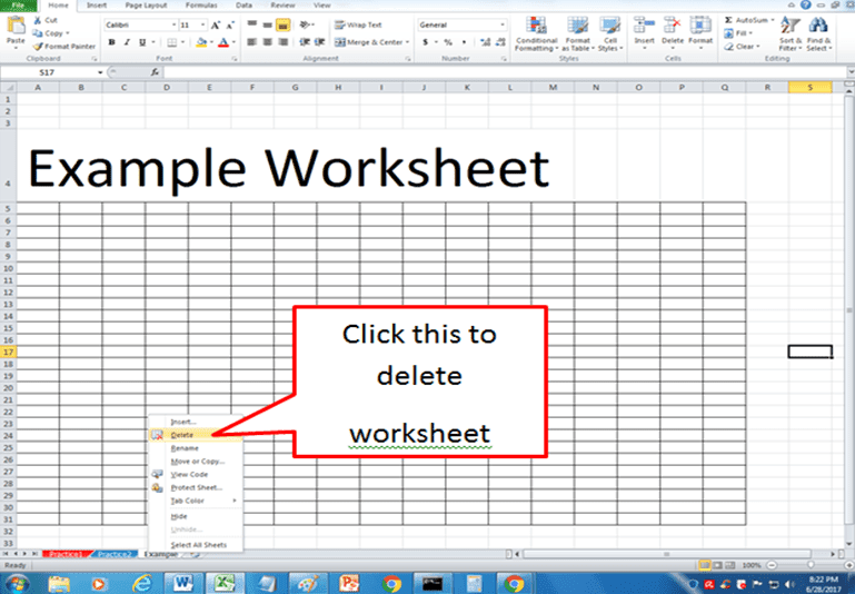 how to delete excel file