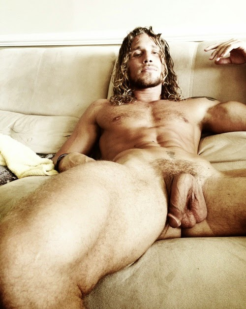 Naked rough straight man
