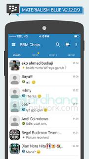 Apps BBM Mod Material Design Ver. 2.12.0.9 APK