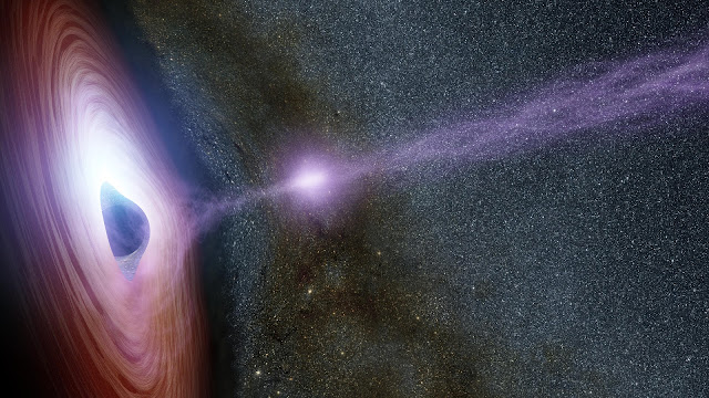 Artist's impression of the Shifting Coronas Around Black Holes