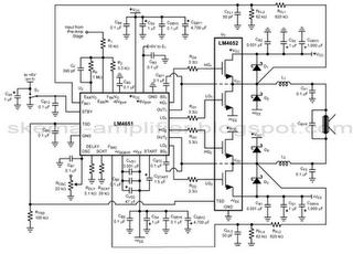 170W AMPLIFIER BTL LM4651 LM4652 CIRCUIT DIAGRAM   circuit