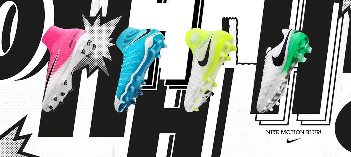 Nike lanzó sus nuevos botines Motion Blur