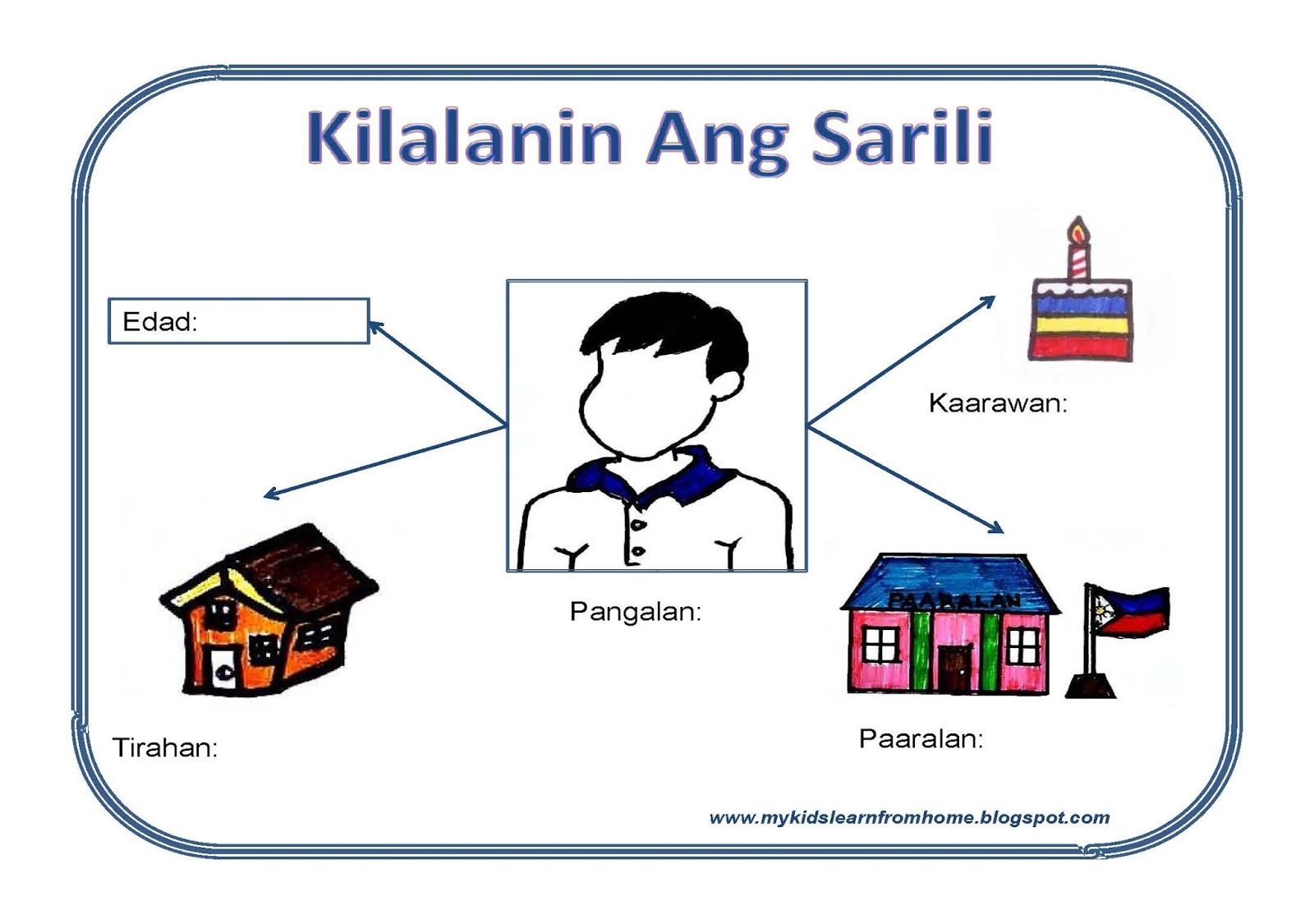 My Kids Learn From Home Grade 1 Sibika At Kultura Kilalanin Ang Sarili Worksheet