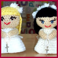 Muñecas de comunión amigurumis