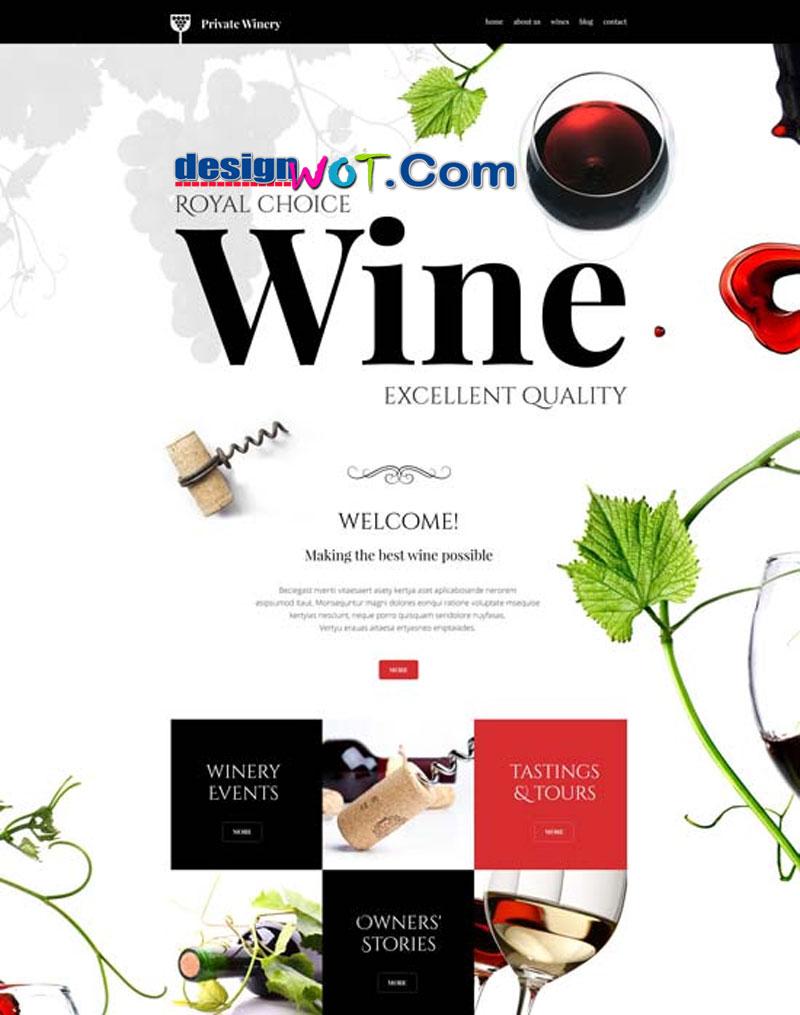Private Winery WordPress Theme