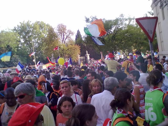 Cuatro Vientos se llena de miles de peregrinos