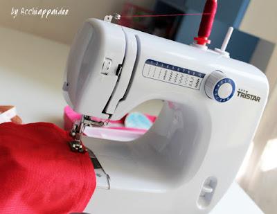 dettaglio macchina da cucire tristar: 10 punti e braccio libero