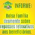 Bolsa Família desmente sobre repasses retroativos aos beneficiários