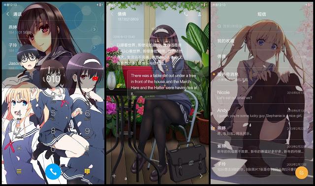 Tema Xiaomi Anime Saenai Heroine No Sodateka V6