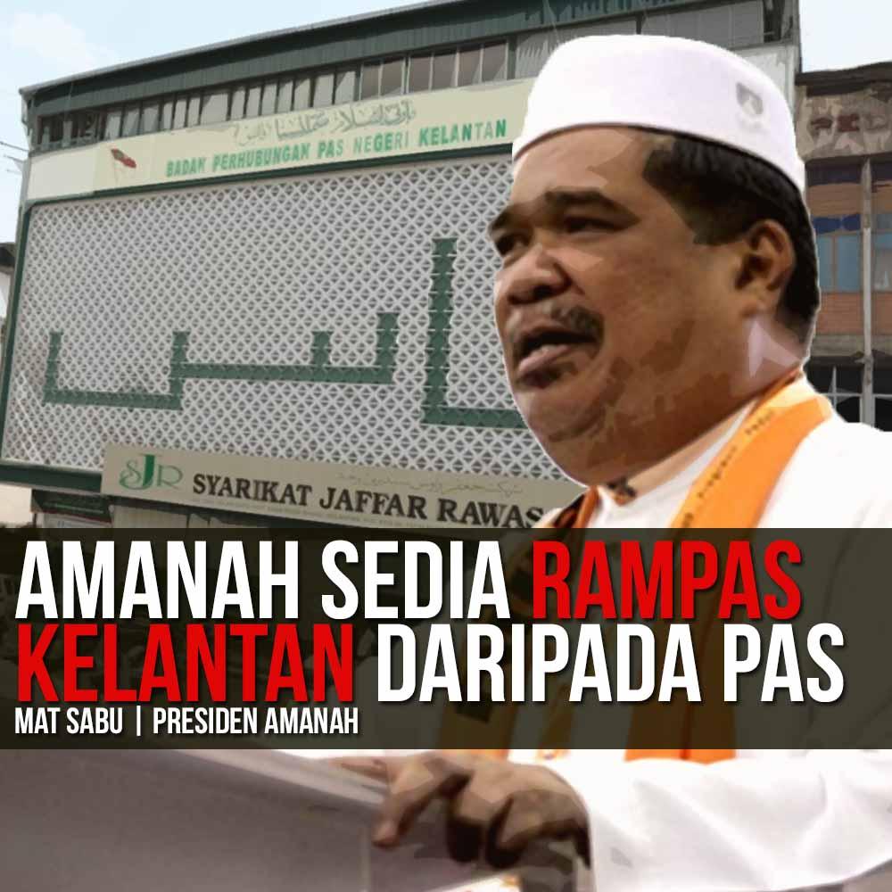 Mat Sabu Buat Lawak Nak Rampas Kelantan Keris 7 Lok