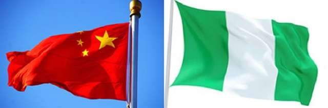 China-Nigeria National flags