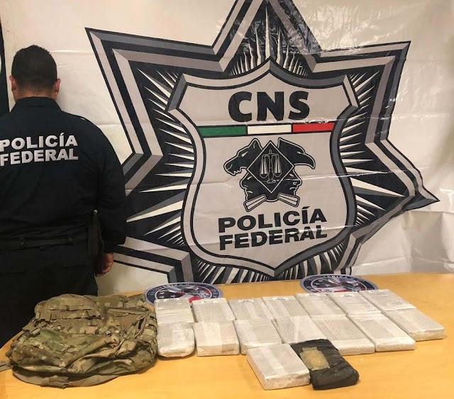 EN BAJA CALIFORNIA, POLICÍA FEDERAL ASEGURA 16 KILOS DE COCAÍNA Y DESTRUYE MÁS DE 70 TONELADAS DE MARIHUANA
