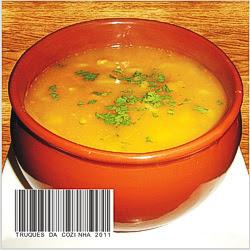 Sopa com massa caseira