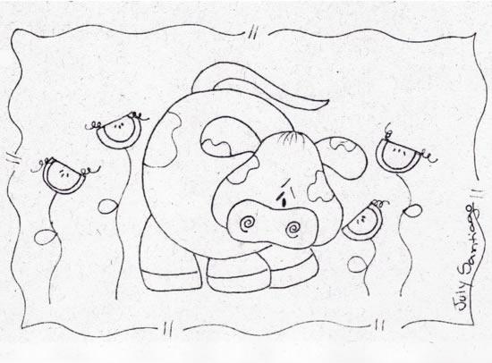 Esbolso Da Vaca Feliz Sorrindo