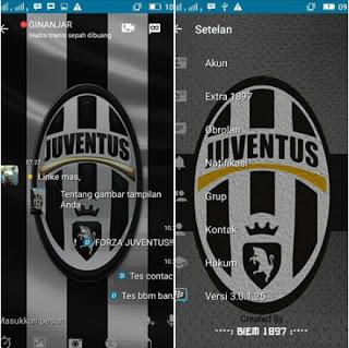 Download BBM MOD Juventus APK V3.0.1.25 Newest Best soccer BBM Theme