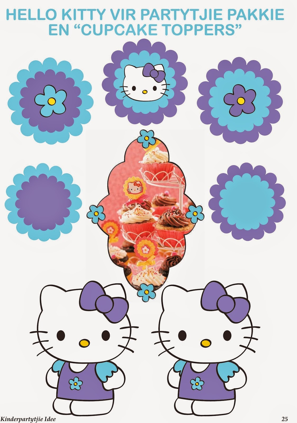 Mini Kit de Hello Kitty para Imprimir Gratis. | Ideas y material ...