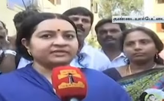 Deepa criticizes & slams OPS team Candidate Madhusudhanan | Thanthi Tv