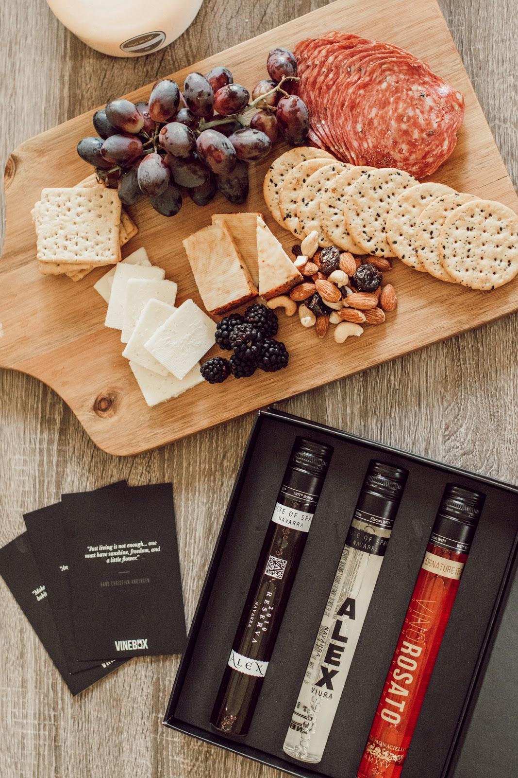 Charcuterie board + wine tasting
