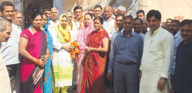 Councilor Mamta Chaudhary inaugurated the work done by the cost of nine and a half million