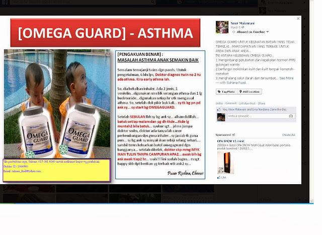 Testimoni OmegaGuard untuk sakit asma kanak-kanak